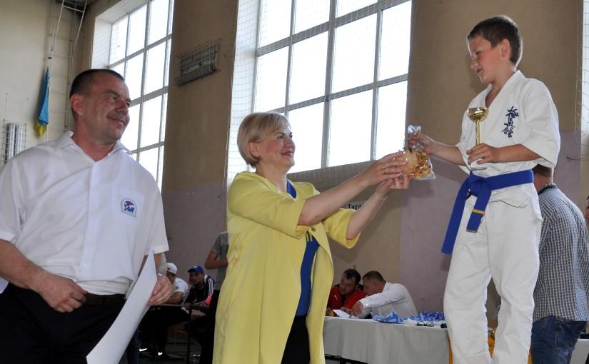 Ірина Сех привітала учасників Всеукраїнського юнацького турніру з кіокушин-кан карате